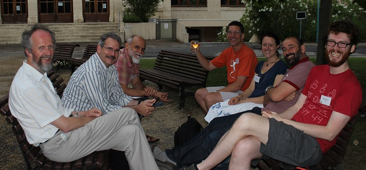 Distance Development team meeting at the International Statistical Ecology Conference, Summer 2014